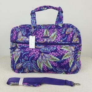 Vera Bradley Grand Traveler Bag Batik Leaves NWT